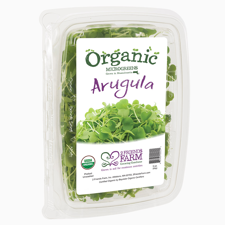 Arugula  – certified organic microgreens farm fresh tender greens