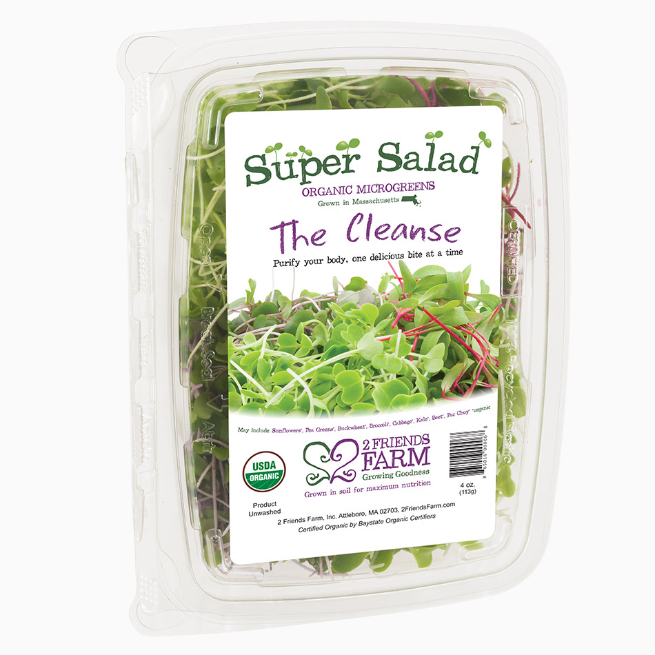 The Cleanse – certified organic microgreens super salad broccoli beet buckwheat