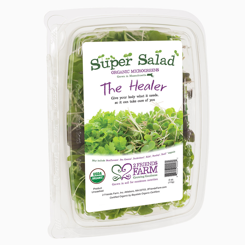 The Healer – usda organic salad mix sunflowers parsley basil pea greens