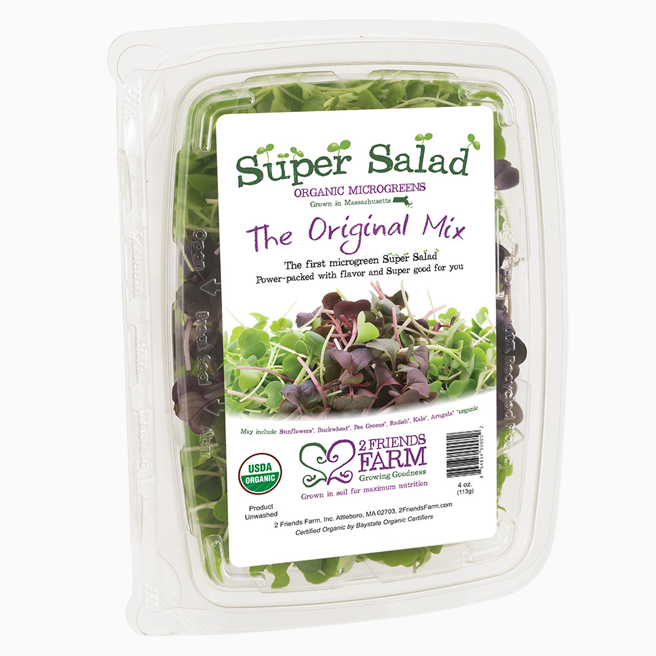 The Original Mix – certified organic microgreens salad mix kale arugula radish