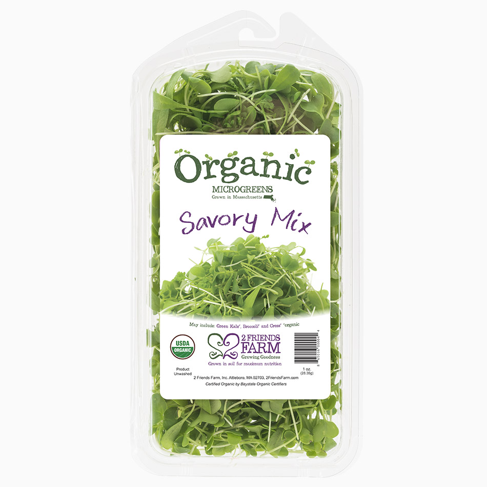 Savory Mix | Green Kale, Broccoli, Cress organic microgreens