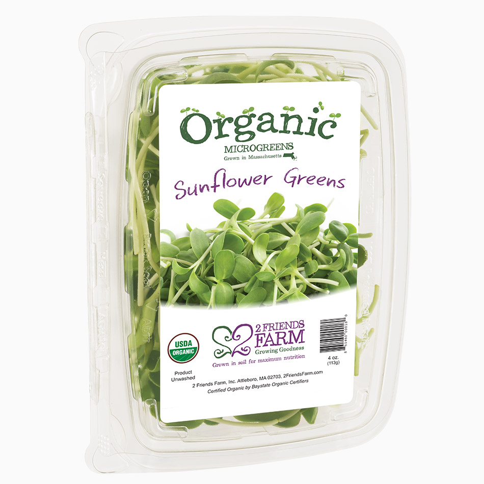 Sunflower Greens – certified organic microgreens super tender greens