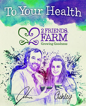 Ashley and John Irving: organic farmers MA RI microgreens wheatgrass